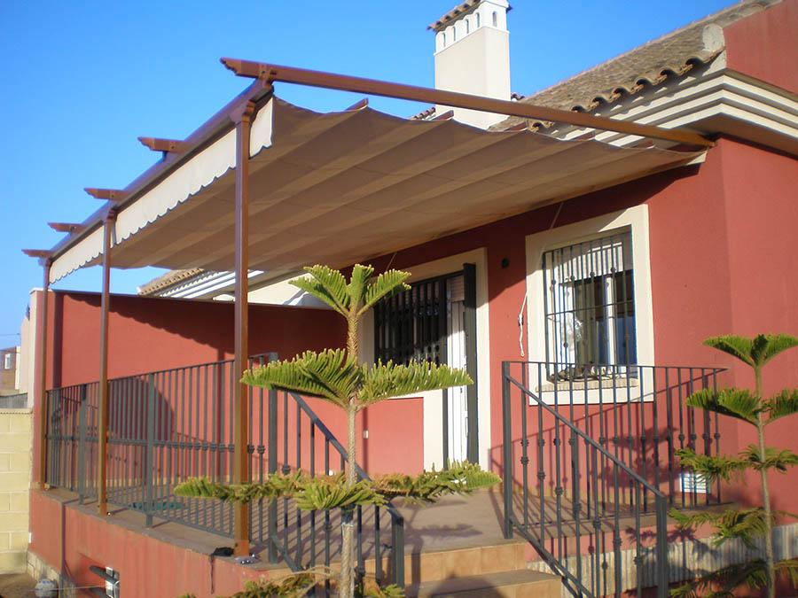 Toldos para terrazas cartagena lonas y toldos balastegui for Toldos corredizos para terrazas